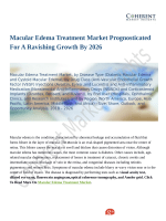 Macular Edema Treatment Market Prognosticated For A Ravishing Growth By 2026
