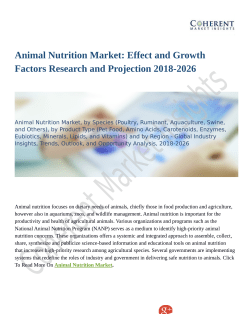 Animal Nutrition Market: Effect and Growth Factors Research and Projection 2018-2026