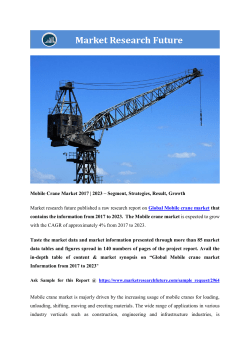 Mobile Crane Market Research Report - Forecast to 2023