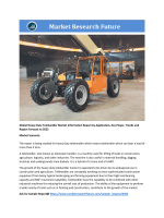 Heavy Duty Telehandler Market Research Report - Forecast to 2022