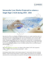 Intraocular Lens Market to Grow at a High CAGR by 2026