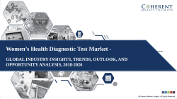 Women's Health Diagnostic Test Market Industry Growth, Trend and Forecast 2018 – 2026