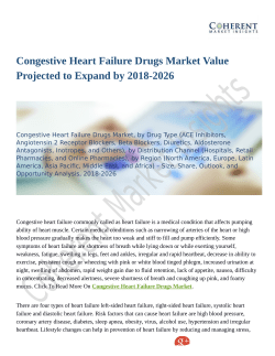 Congestive Heart Failure Drugs Market Moving Toward 2026 With New Procedures