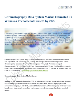 Chromatography Data System Market Trends Estimates High Demand by 2026