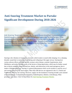Anti-Snoring Treatment Market Demands and Growth Prediction, Outlook 2018-2026