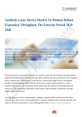 Aesthetic Laser Device Market Trends Estimates High Demand by 2026