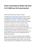 Power Semiconductor Market will clock 5