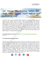 Cell Therapy Manufacturing Market Analysis and Development Trends 2018-2026