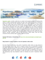 Hypodermic Needles Market SWOT Analysis, Applications & Emerging Audience Till 2026
