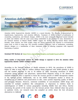 Attention-deficit/Hyperactivity Disorder (ADHD) Treatment Market Outlook Till 2026