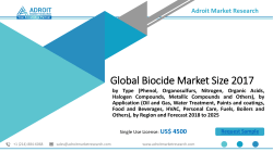 Biocide Market Steady Growth by 2025 | Clariant AG, The Dow Chemical Company, Thor Group Limited, Troy Corporation, Nalco Champion