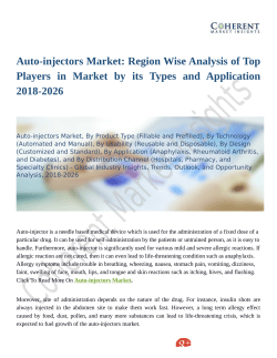 Auto-injectors Market Anlysis with Inputs from Industry Experts 2018 to 2026