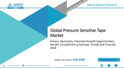Global Pressure Sensitive Tape Market Size, Status and Forecast 2018-2025
