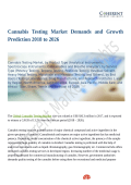 Cannabis Testing Market Positive Long-Term Growth Outlook 2018-2026