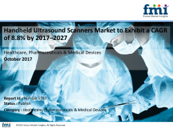 Handheld Ultrasound Scanners Market to Exhibit a CAGR of 8.8% by 2017–2027