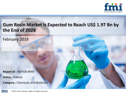 Gum Rosin Market is Estimated to Cross US$ US$ 1.97 Bn by the End of 2028