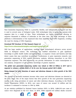 Next Generation Sequencing Market