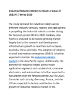 Industrial Robotics Market to Reach a Value of US