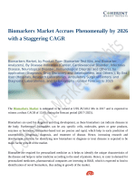 Biomarkers Market Is Expected To Show Significant Growth Over The Forecast Period 2018-2026
