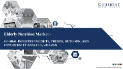 Elderly Nutrition Market Global Industry Size, Share, Outlook, and Analysis, 2018-2026