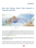 Back Pain Therapy Market Value Projected to Expand by 2018-2026
