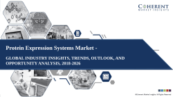 Protein Expression Systems Market - Size, Share, Outlook, and Analysis, 2018-2026