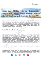 Single-Use Medical Device Reprocessing Market Report Puts Limelight On Opportunities By 2026