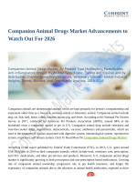 Companion Animal Drugs Market: Latest Advancements & Market Outlook 2018 to 2026