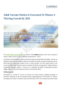 Adult Vaccines Market Set Explosive Growth to 2026