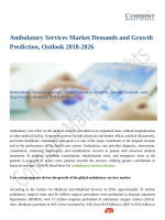 Ambulatory Services Market Demands and Growth Prediction, Outlook 2018-2026