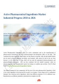 Active Pharmaceutical Ingredients Market Industrial Progress 2018 to 2026