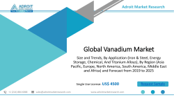 Vanadium Market Size, Share & Global Forecast 2019-2025