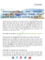 Extracorporeal Shock Wave Lithotripsy Market | Global Market 2018 Detailed Insight Study