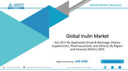 Inulin Market Status and Outlook 2019-2025