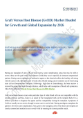 Graft Versus Host Disease (GvHD) Market Demands and Growth Prediction 2018 to 2026