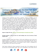 Autologous Stem Cell and Non-Stem Cell Based Therapies Market Growth Analysis to 2026