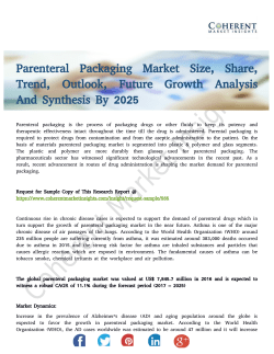 Parenteral Packaging Market To Receive Overwhelming Hike In Revenues By 2025