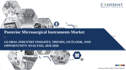 Posterior Microsurgical Instruments Market - Size, Share, Outlook, and Analysis 2018–2026