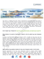 Lung Cancer Therapeutics Market to Witness Substantial Gains Over 2018-2026