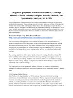 Original Equipment Manufacturer (OEM) Coatings Market - Global Industry Insights, Trends, Outlook, and Opportunity Analysis, 2018-2026