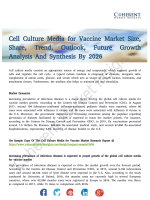 Cell Culture Media for Vaccine MarketCell Culture Media for Vaccine Market Projected to Garner Significant Revenues by 2018 to 2026