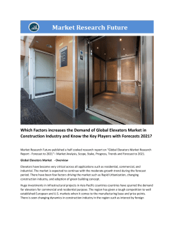Elevators Market Research Report - Forecast to 2021