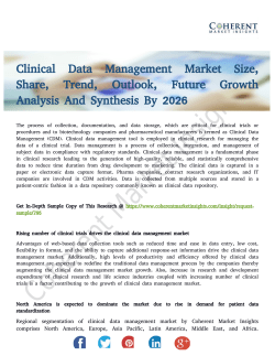Clinical Data Management Market 2026 - Offered High Levels Of Productivity And Efficiency