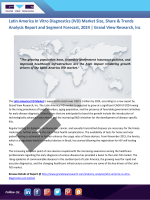 Latin America In Vitro Diagnostics (IVD) Market