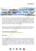 Medical Micro-electro Mechanical Systems Market to Witness Elevated Growth By 2025