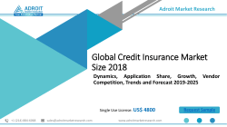 Credit Insurance Market: Global Demand Analysis, Remarkable Growth Prospective & Opportunity 2025
