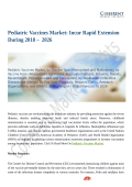 Pediatric Vaccines Market Trends Estimates High Demand By  2026