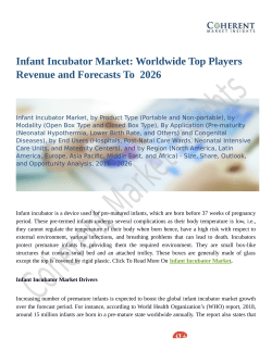 Infant Incubator Market Projected to witness a Single Digit CAGR during 2018 -  2026