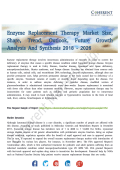 Enzyme Replacement Therapy Market Strategies and Forecasts to 2026
