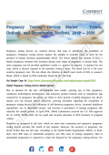 Pregnancy Testing Devices Market